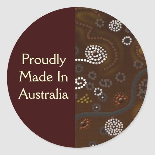 Australian Aboriginal Style Souvenir Art Stickers