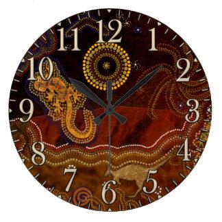 Australian Aborigine Dreamtime & Animals Clock