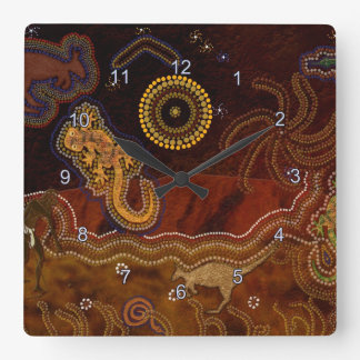 Australian Aborigine Dreamtime & Animals Wallclocks
