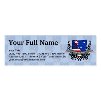 Australian-American Shield Flag Pack Of Skinny Business Cards