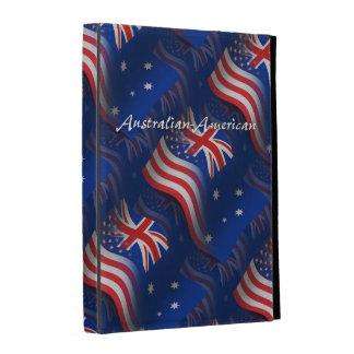 Australian-American Waving Flag iPad Folio Cases