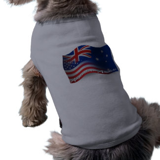 Australian-American Waving Flag Sleeveless Dog Shirt