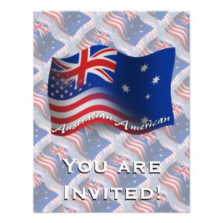 Australian-American Waving Flag Invite
