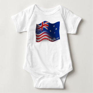 Australian-American Waving Flag T Shirt