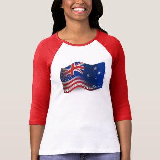 Australian-American Waving Flag Tee Shirt