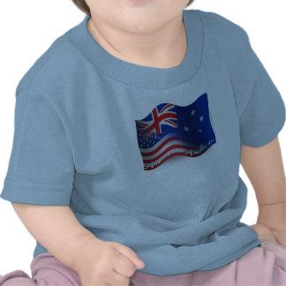 Australian-American Waving Flag Tees