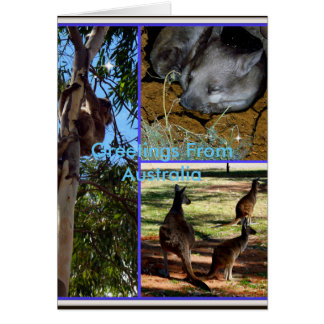 Australian Animal_Collage,_Birthday_Greeting_Card Card