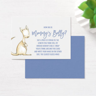 Kangaroo business cards business card printing zazzle australian animals how big is mommys belly game business card colourmoves Images
