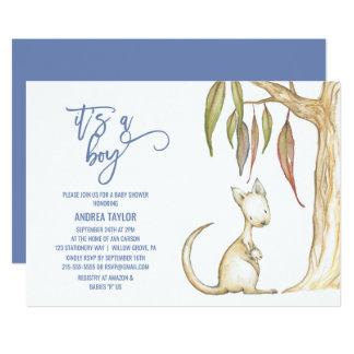 Australian Animals | It's A Boy Baby Shower Card