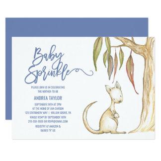 Australian Animals | Kangaroo & Joey Baby Sprinkle Card