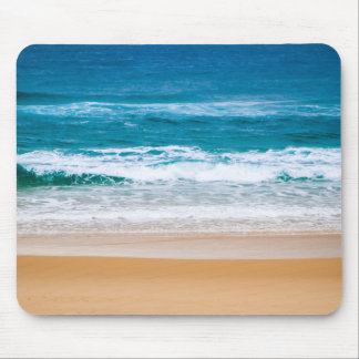 Australian Beach with Blue Waves Mouse Pads
