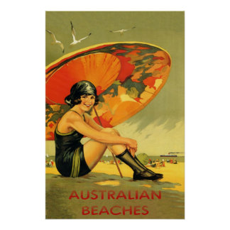 Australian Beaches Vintage Posters