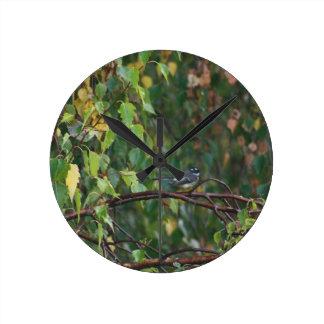 australian birds and flora wall clock