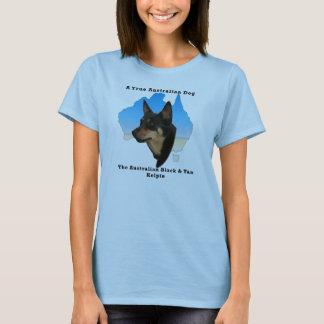 Australian Black & Tan Kelpie/ Map of Australia T-Shirt