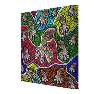 Australian Blue Ringed Dot Art, Canvas Print