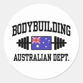 Australian Bodybuilder Classic Round Sticker