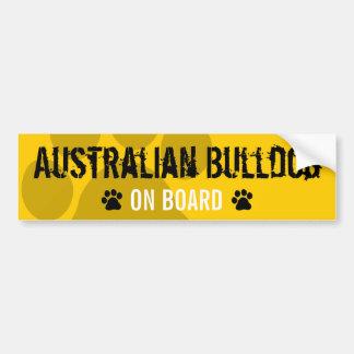 Australian Bulldog on Board Bumper Sticker