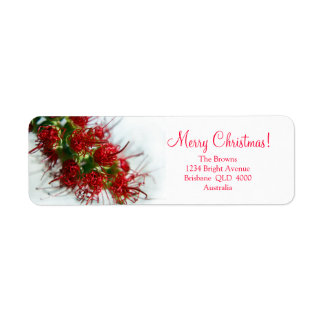 Australian Bush Christmas Return Address Label