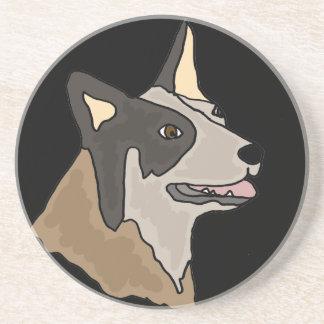 Australian Cattle Dog Art Coasters