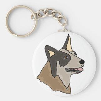 Australian Cattle Dog Art Key Ring