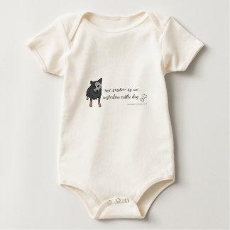 australian cattle dog baby bodysuit