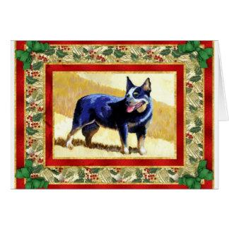 Australian Cattle Dog Blank Christmas Card