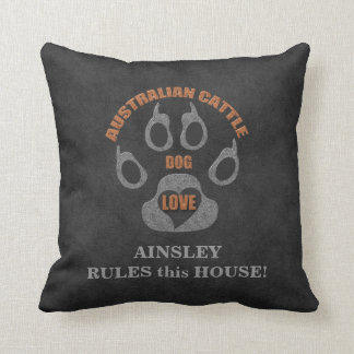 Australian Cattle Dog Breed Personalized Pillow