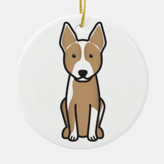 Australian Cattle Dog Cartoon Ceramic Ornament