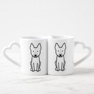 Australian Cattle Dog Cartoon Coffee Mug Set