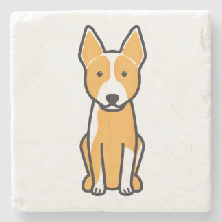 Australian Cattle Dog Cartoon Stone Coaster