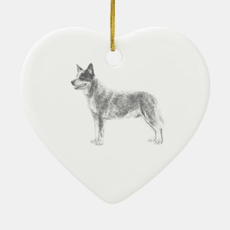 Australian Cattle Dog Ceramic Ornament