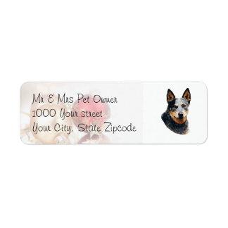 Australian Cattle Dog Christmas Balls Return Address Label