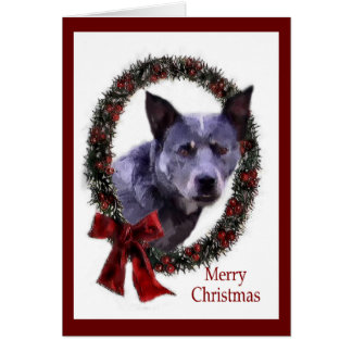Australian Cattle Dog Christmas Gifts Greeting Card