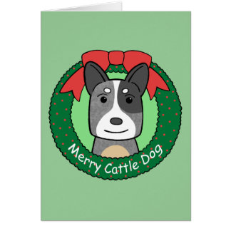 Australian Cattle Dog Christmas Greeting Card