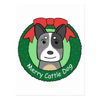 Australian Cattle Dog Christmas Post Card