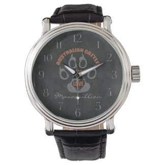 Australian Cattle Dog Gray Custom Watch
