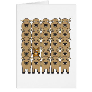 Australian Cattle Dog in the Herd Note Card