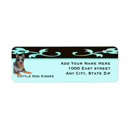 Australian Cattle Dog Kisses Return Address Label