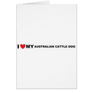 australian cattle dog love greeting card