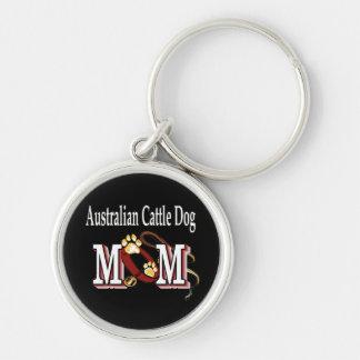 australian cattle dog mom key ring