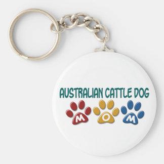 AUSTRALIAN CATTLE DOG MOM Paw Print Key Ring