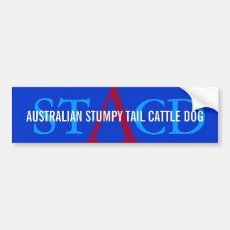 Australian Cattle Dog Monogram Bumper Sticker