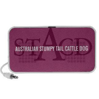 Australian Cattle Dog Monogram Notebook Speakers