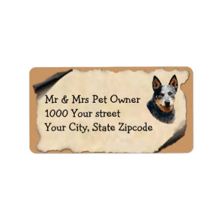 Australian Cattle Dog on Old Parchment Label