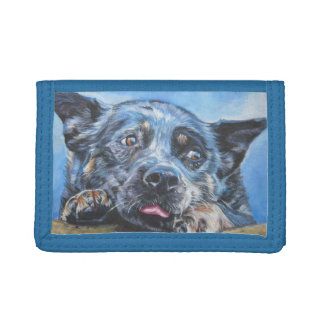 Australian Cattle Dog painting on wallet