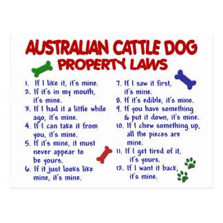 AUSTRALIAN CATTLE DOG Property Laws 2 Postcard