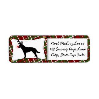 Australian Cattle Dog Reindeer Christmas Return Address Label