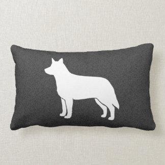 Australian Cattle Dog Silhouette Lumbar Cushion