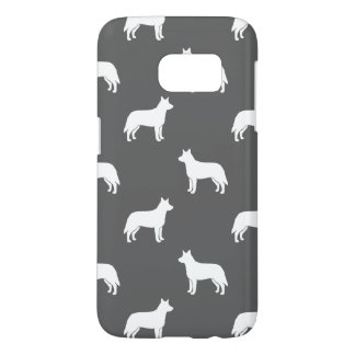 Australian Cattle Dog Silhouettes Pattern Grey