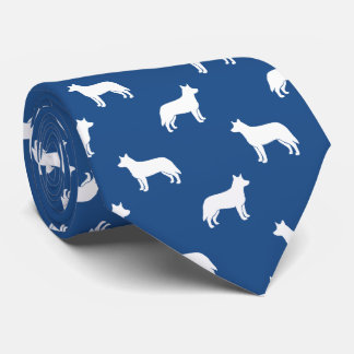Australian Cattle Dog Silhouettes Pattern Tie